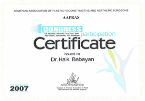 Armenian Association of Plastic Reconstructive and Aesthetic Surgeons